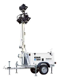 SDMO lighting tower rental